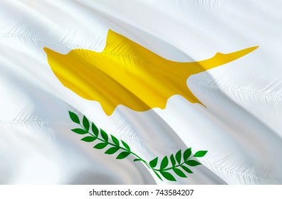 Cyprus flag. Flag of Cyprus picture. 3D Waving flag design. Yellow and white flag. The national symbol of Cyprus. National colors background wallpaper image airways tourism concept