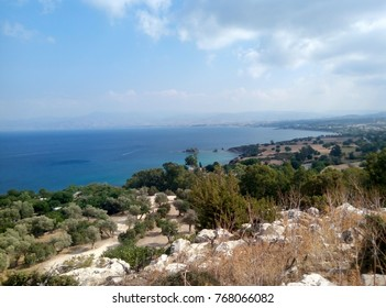 Cyprus island, beautiful view of the sea from the cliff