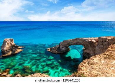 Cyprus island, Mediterranean Sea. Legendary bridge lovers.
