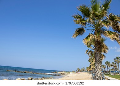 Cyprus island - Paphos city - Kefalos beach on the Mediterranean Sea