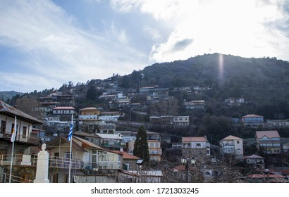 Cyprus island- Troodos mountains - panoramic view of Pedoulas village