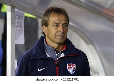 CYPRUS, LARNAKA- MARCH 05:USA's coach Juergen Klinsman  during the friendly game  between Ukraine  and USA in Larnaka on March  05,2014