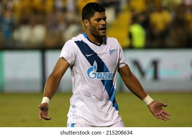 CYPRUS, LARNAKA-JUL 30: Zenit player Hulk during the Champions League third qualifying round second leg against Ael at Antonis Papadopolos stadium in Larnaca, Cyprus, Tuesday, July 30, 2014