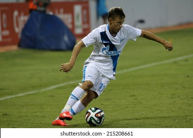 CYPRUS, LARNAKA-JUL 30: Zenit player Oleg Shatov during the Champions League third qualifying round second leg against Ael at Antonis Papadopolos stadium in Larnaca, Cyprus, Tuesday, July 30, 2014