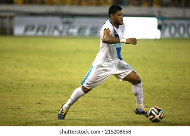 CYPRUS, LARNAKA-JUL 30:Zenit player Hulk during the Champions League third qualifying round second leg against Ael  in Larnaca, Cyprus, Tuesday, July 30, 2014
