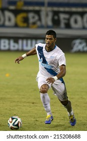 CYPRUS, LARNAKA-JUL 30:Zenit player Hulk during the Champions League third qualifying round second leg against Ael at Antonis Papadopolos stadium in Larnaca, Cyprus, Tuesday, July 30, 2014