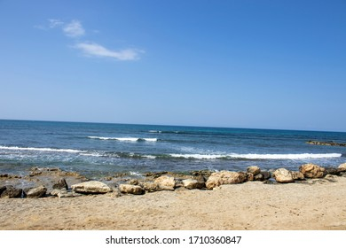 cyprus - paphos city - kefalos beach along  the mediterranean sea