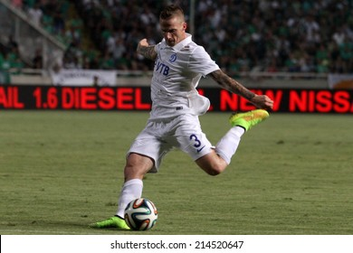 CYPRUS,NICOSIA - AUG 28:Alexander B���¸ttner of Dinamo Moskva during their Europa League play-offs second leg soccer match against Omonoia at GSP stadium in Nicosia, Cyprus, Thursday, Aug. 28, 2014