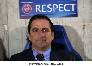 CYPRUS,NICOSIA- FEB 20:Valencia FC coach Juan Antonio Pizzi Torroija  during the Europa League  soccer match at GSP stadium in Nicosia, Cyprus, Thursday, Feb 20, 2014.