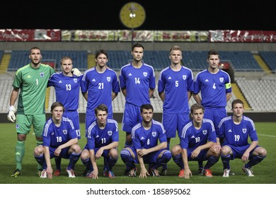 CYPRUS,NICOSIA - NOV 14:Finland national football team at Gsp Stadium in Nicosia on November 14th,2012