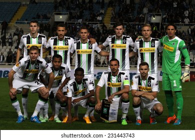 CYPRUS,NICOSIA- NOV 6:Borussia Monchengladbach team pose for a photo  during the Uefa Europa League against Apollon Limassol FC in Gsp Stadium on November 6,2014