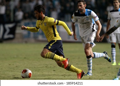 CYPRUS,NICOSIA- OCT 24:Lazio player Felipe Anderson during their Europa League  soccer match against Apollon Limassol at GSP stadium in Nicosia, Cyprus, Thursday, Oct. 24, 2013