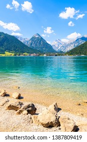 Cystal clear water of Achensee lake near Pertisau town on sunny summer day, Tirol, Austria