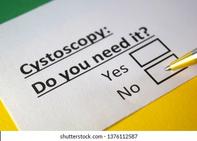 Cystoscopy : Do you need it? yes or no