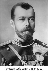 Czar Nicholas II of Russia in 1914, the year World War 1 began. Underdeveloped Russia entered the war with a large primitive army and was in retreat within a year