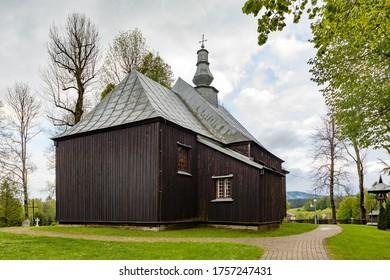 CZARNA, POLAND - MAY 27,2020: Greek Catholic church Saint Dymitr in Czarna - currently the Roman Catholic church of the Exaltation of the Cross. - Shutterstock ID 1757247431