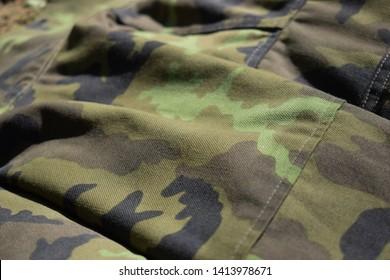 Czech army camouflage vzor 95 - Shutterstock ID 1413978671