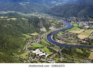 Czech Central Mountains, Valtirov, Mojzir, Velke Brezno, River Elbe (Reka Labe) and Kozi Vrch, close to Usti Nad Labem, Czech Republic