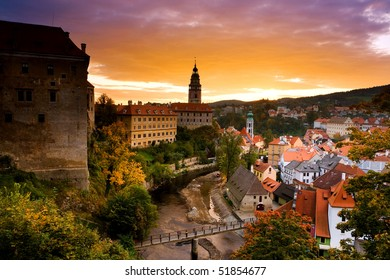 Czech Cesky Krumlov,the most beautiful towm.