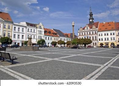 Czech - city hall on square of Peace at Ceska Lipa
