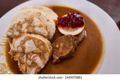 Czech cuisine Svickova is good