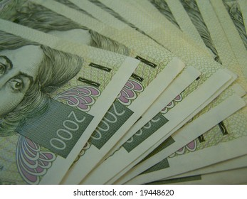 czech currency banknotes (2000 Kc)