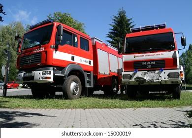 Czech fire brigade trucks.