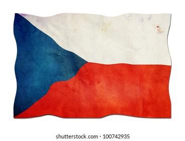 Czech Flag made of  Paper