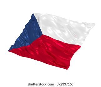 Czech flag on white background