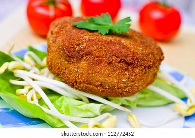 Czech fried cheese with tatar sauce - Shutterstock ID 112772452