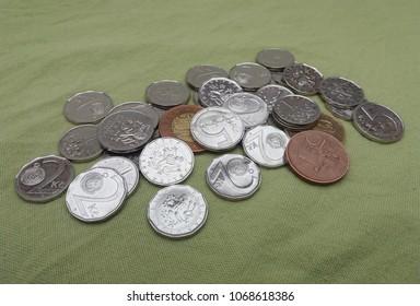 Czech Koruna coins money (CZK), currency of Czech Republic