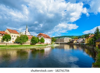 Czech Krumlov - small city in the South Bohemian Region of the Czech Republic. Cesky Crumlaw on the Vltava River