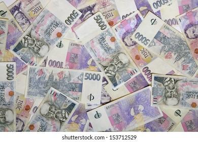 A lot of czech money
