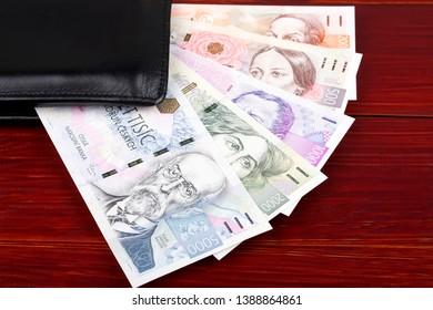 Czech money in the black wallet