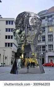 CZECH PRAGUE MARCH 7: The moving sculpture by Czech artist David Cerny on March 7 2015 in Prague,Czech Republic.