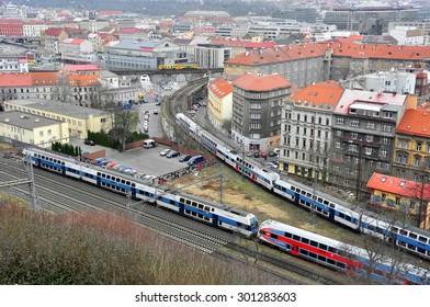 CZECH PRAGUE MARCH 7: Panorama of the city on March 7 2015 in Prague,Czech Republic.