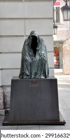 CZECH ,PRAGUE MARCH 7: Pieta statue by sculptor Anna Chromy in front of Estates Theatre (Stavovske divadlo) on March 7, 2015 in Prague,Czech Republic.