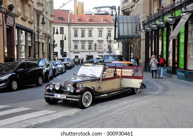 CZECH ,PRAGUE MARCH 7: Retro Car City Prague Tour on March 7 2015 in Prague,Czech Republic.
