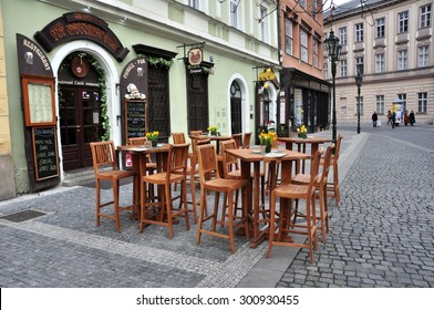CZECH PRAGUE MARCH 7: Steet cafe in the old town on March 7 2015 in Prague,Czech Republic.