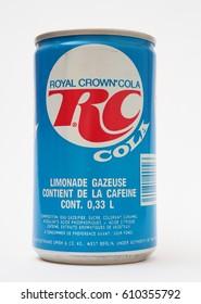 CZECH REPUBLIC - APRIL 20, 2015: A vintage Royal Crown Cola.