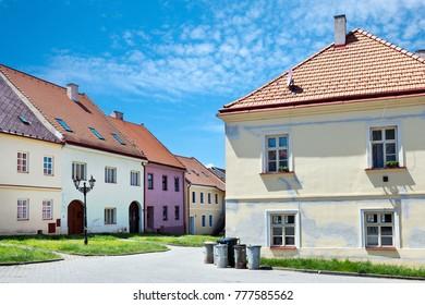 CZECH REPUBLIC, BOSKOVICE - JUN 23, 2016: old Jewish town, Boskovice, South Moravia, Czech republic