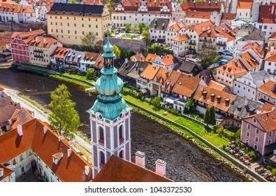 Czech Republic. Cesky Krumlov old rural town