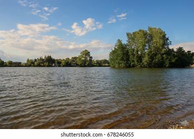 Czech Republic, Europe, Babice, Lake Uhliska.