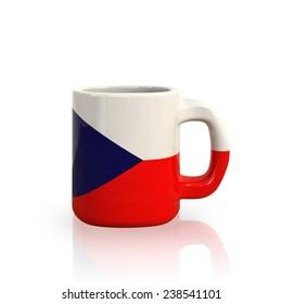 Czech republic flag cup
