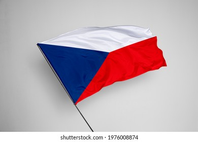Czech Republic flag isolated on white background with clipping path. close up waving flag of Czech Republic. flag symbols of Czech Republic. Czech Republic flag frame with empty space for your text.  - Shutterstock ID 1976008874