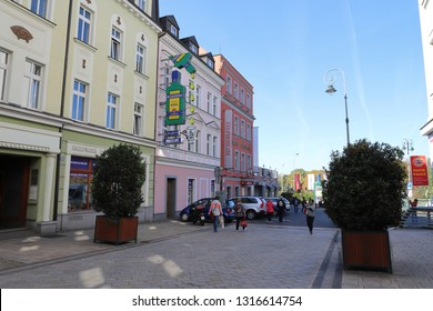 CZECH REPUBLIC, KARLOVY VARY - OCTOBER 05, 2018: Jan Becher Museum in  T. G. Masaryka in Karlovy Vary