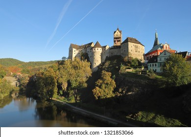 CZECH REPUBLIC, KARLOVY VARY REGION, SOKOLOV DISTRICT, LOKET - OCTOBER 05, 2018: Loket Castle is located on the banks of the Eger.