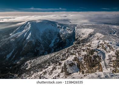 czech republic, mountains, sněžka, winter, snow - Shutterstock ID 1158426535