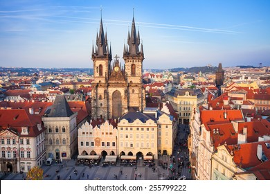 Czech Republic, Prague, April 11, 2014: Marketplace during the Easter celebrations in Prague, Czech Republic