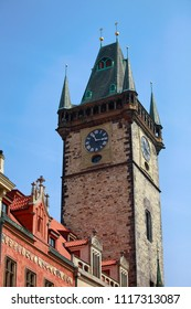 Czech Republic. Prague. Clock tower in the Old Town Square